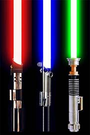 Lightsabers basic colors