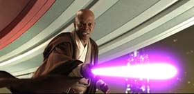 Master Windu's purple light saber